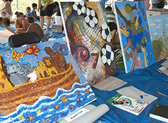 Mural painting at the WCF 2007